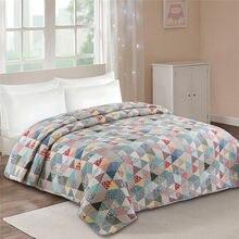 Moda cama de algodão quited colcha geométrica elegante verão edredon colcha cobertor colcha coverlet europeu cubrecam