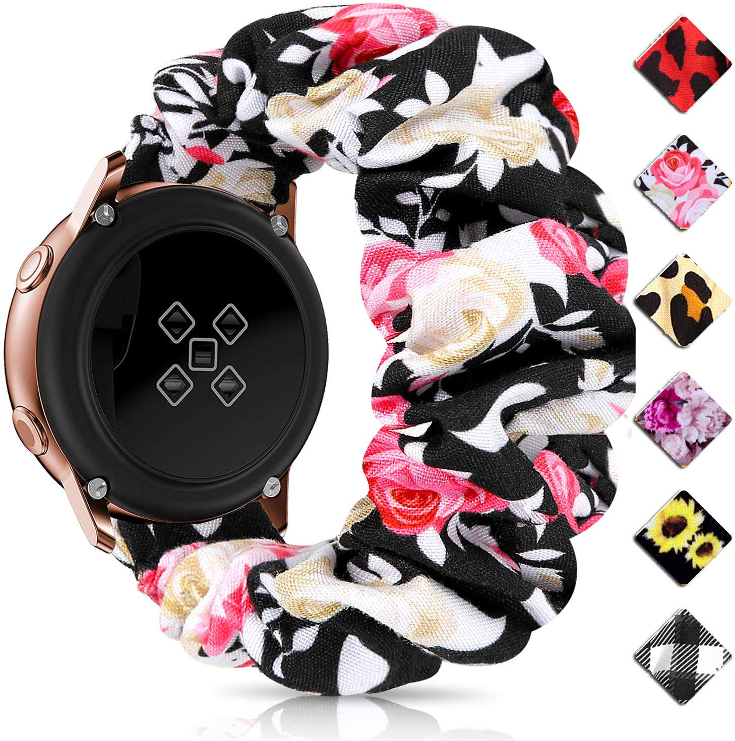 20mm 22mm Quick Release Watch Bands Elastic Scrunchie Watch Band Women For Samsung Galaxy Watch Gear S3 S2 42mm 46mm