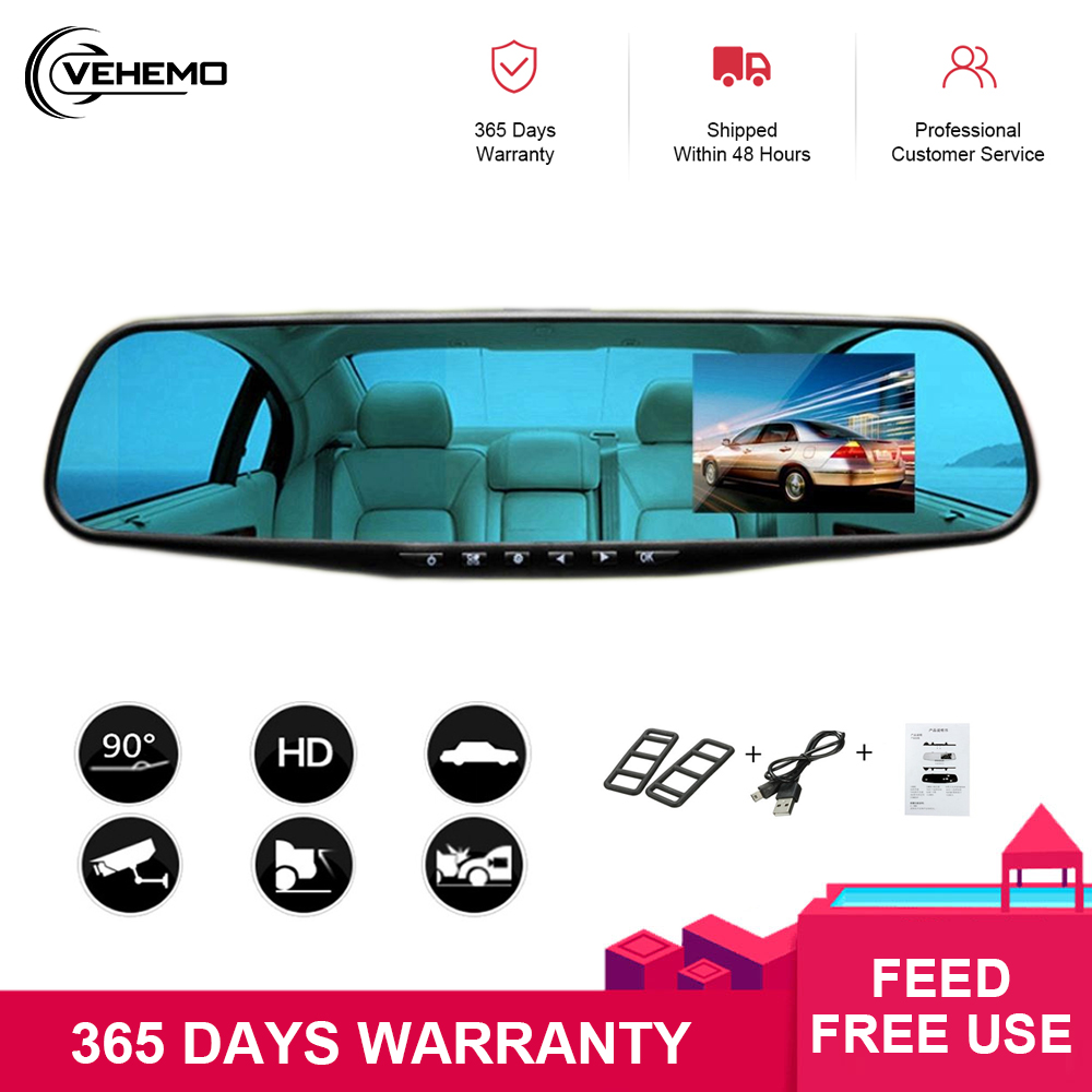 "<font><b>3</b></font>-10"" 1080P FHD Touch Screen <font><b>Car</b></font> Driving Video Recorder <font><b>Car</b></font> Mirror <font><b>Dvr</b></font> Dual Lens Stream Media Night Vision Rear View Dash Cam image"