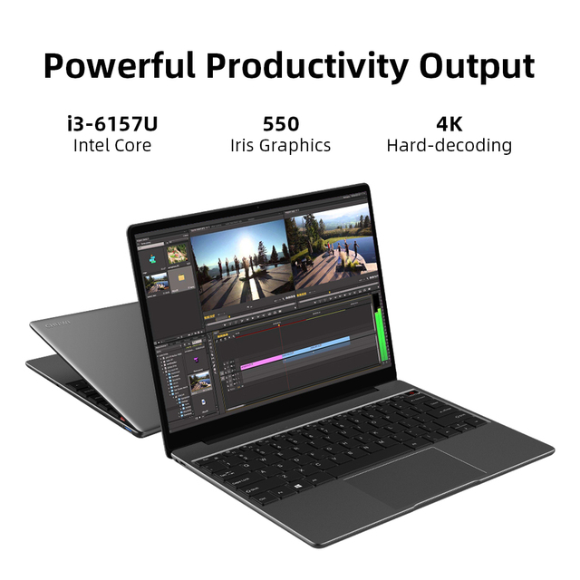 "CHUWI CoreBook Pro Intel Core i3 Laptops 13"" 2160*1440 IPS Screen 8GB RAM 256GB SSD NoteBook with Backlit Keyboard 2.4G/5G Wifi 4"