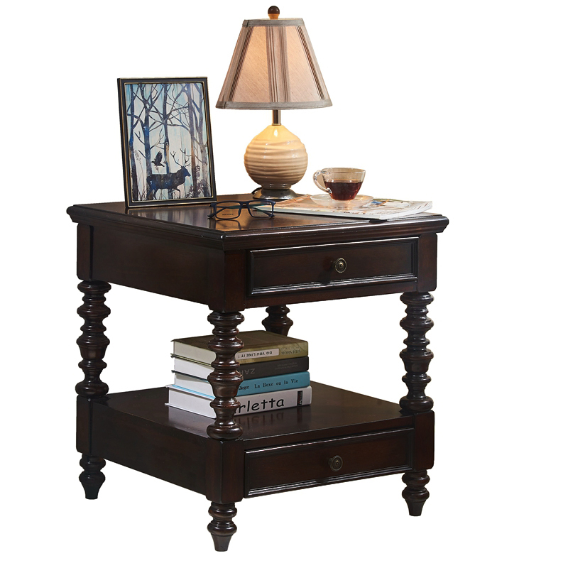 American Sofa Side Cabinet Solid Wood Side Living Room Side Table Small Coffee Table Telephone Table Bedside Corner