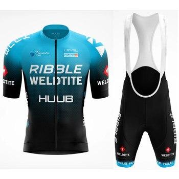 HUUB-Conjunto de jersey de ciclismo profesional, Conjunto de jersey y pantalones cortos...