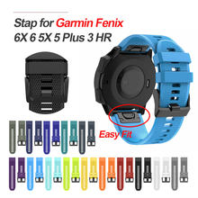 26 22 20MM Silicone Watchband Strap for Garmin Fenix 5X 5 6X 6 6S 5S Plus 3 3HR Watch Quick Release Colorful WristBand Strap(China)