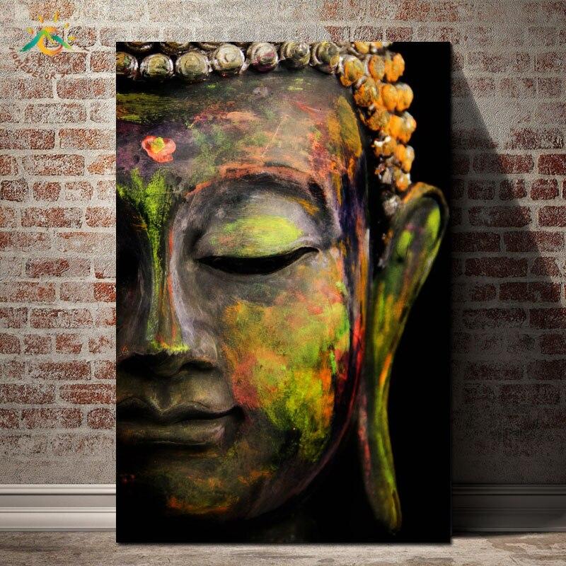 Zelená Buddha Moderní dekorativní nástěnná malba Obraz na plátně Tisk Art Dekorace domů Plakáty a tisky Obraz na zeď Art for Living Room