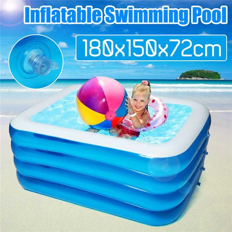 Inflatable Pool 180x150x72cm Baby Swimming Pool Outdoor Children Basin Bathtub Kids Pool Baby Swimming Pool Water Play