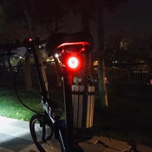Image 5 - ROCKBROS الدراجة ضوء الذكية الاستشعار مصباح ليد بوحدة USB قابل لإعادة الشحن MTB إضاءة دراجة هوائية الضوء الخلفي 6 وضع الألومنيوم سبيكة حامل الدراجة اكسسوارات