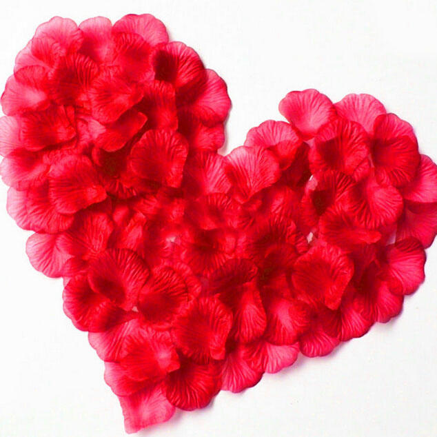 100Pcs/Pack 4.5*4.5cm  Artificial Red Flower Wedding Party DecorationAccessories Wedding Rose Petals Petalos De Rosa De Boda