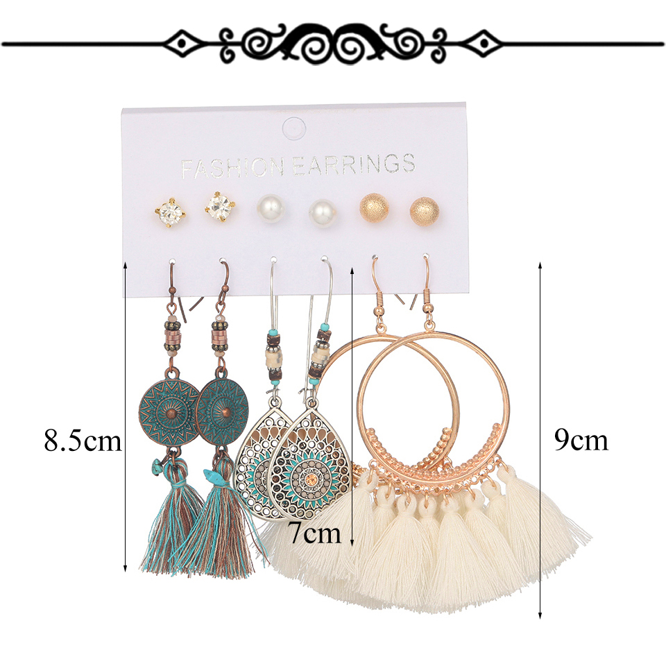 H81d4574540fa471a8b9536c17a2f6d92R - Multiple Women's  Boho Ethnic Drop Earrings
