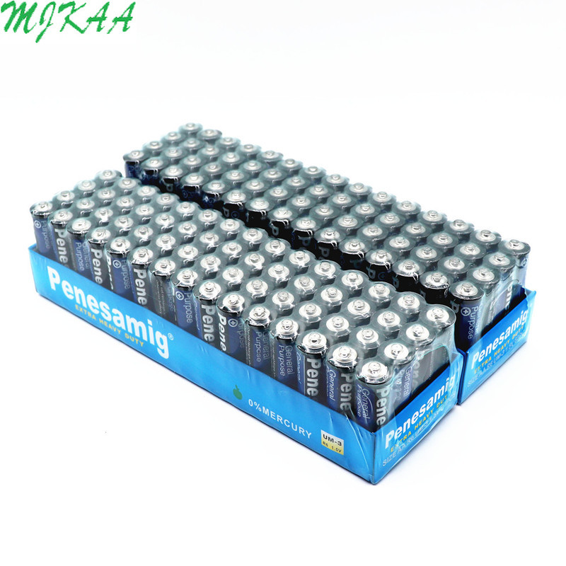 MJKAA 50Pcs <font><b>1.5V</b></font> <font><b>AA</b></font> <font><b>Battery</b></font> Carbon Dry <font><b>Batteries</b></font> for Camera, Calculator, Alarm Clock, Mouse, Remote Control image