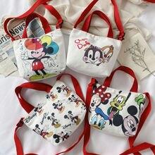 Новая детская Холщовая Сумка disney модная сумка с мультяшным