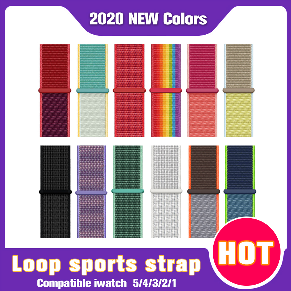 Band For Apple Watch Series 5 4 40MM 44MM Watchband Breathable Nylon Strap Sport Loop For Iwatch Bracelet Series 321 38MM 42MM