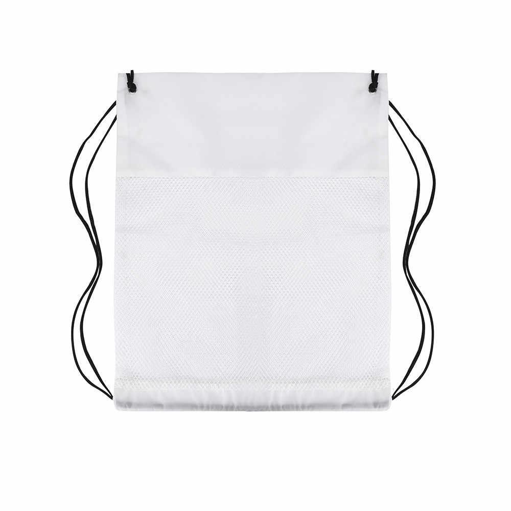 Naylon İpli Çanta Spor Plaj Seyahat Açık sırt çantası İpli sırt çantası okul ayakkabı çantası mochila con cordón