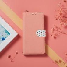 Leder Fall Für Honor 9X Premium 20S 10i 8X Ansicht 20 Pro 10 Lite Polka Dot Nette Flip Buch fall Abdeckung auf Für Huawei P30 Lite Pro