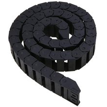 15 x 30mm Cable Drag Chain Plastic Nylon Towline Transmission Wire Carrier Engraving Machine Accessory Tools 1M 18mm x 50mm r38 plastic towline cable drag chain wire carrier 102cm length for engraving cutting machine transmission chains