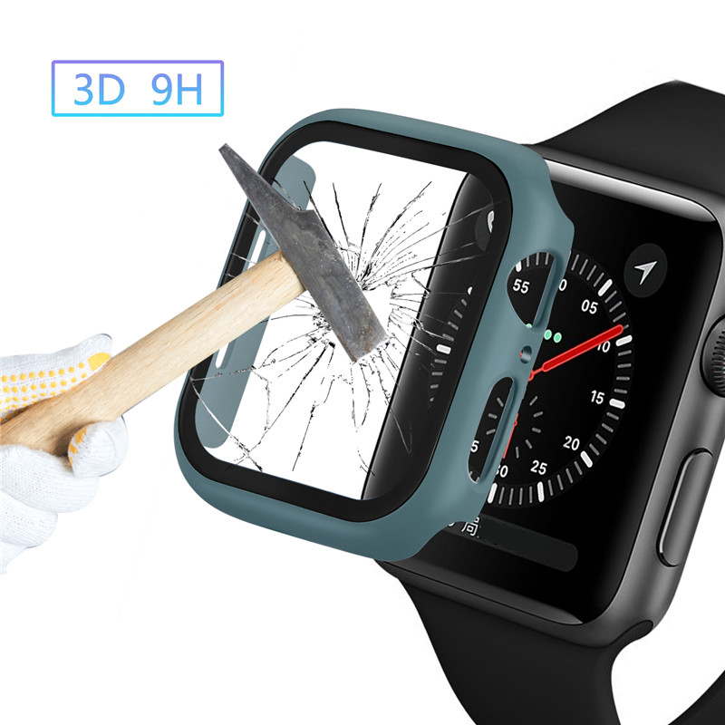 Super Thin <font><b>Case</b></font> Fits <font><b>Apple</b></font> <font><b>Watch</b></font> Series 5 4 <font><b>3</b></font> 2 <font><b>Case</b></font> With Screen Protector Waterproof Scratch For Iwatch 44mm 42mm 40mm <font><b>38mm</b></font> image