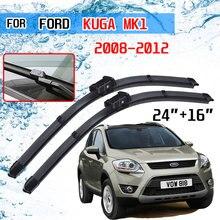 Para ford kuga mk1 2008 2009 2010 2011 2012 acessórios da janela dianteira do carro pára brisas lâminas de limpador escovas cortador