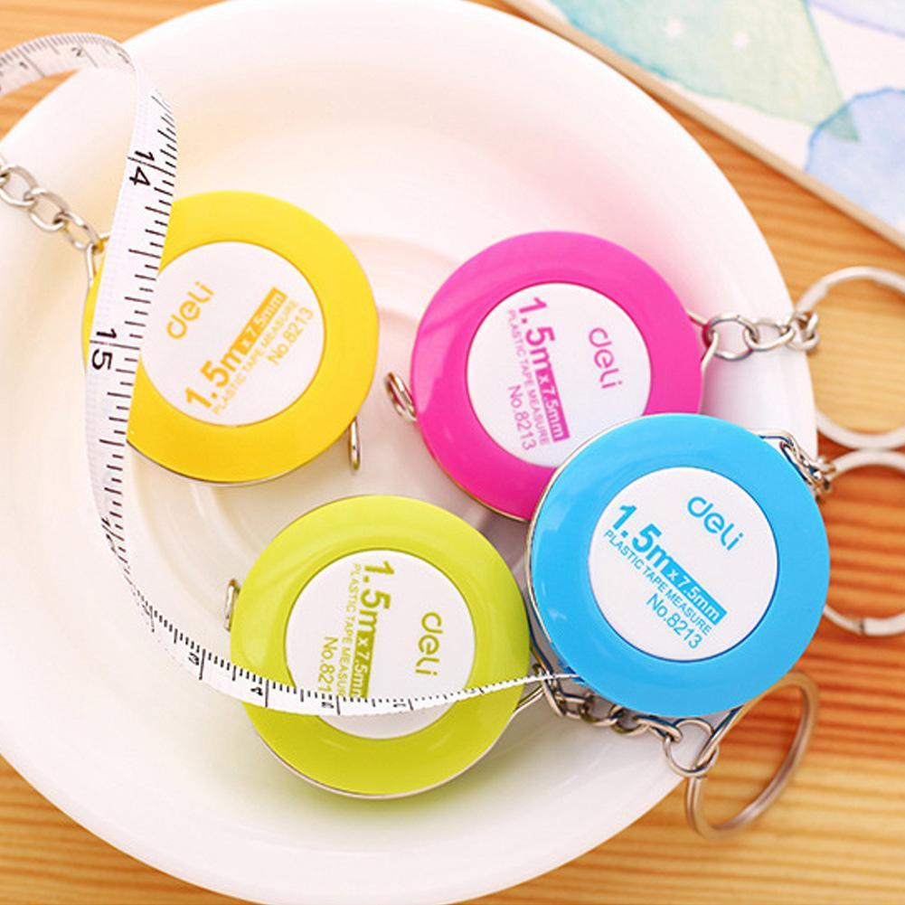 1piece Effective Cute Candy Color Leather Clothing Ruler Soft Ruler 1.5 Meter Measuring Tool Scale Color Random