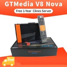 Gtmedia V8 Nova satellite finder freesat cccam v9 super DVB-S2 1 Year Cccam 7Cline for TV Box Same as V7hd support h.265 цены онлайн