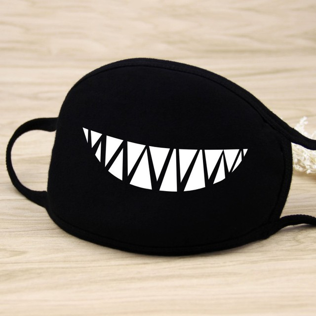 Cotton Dust Sport Mask Cartoon Teeth Muffle Cycling Face Mask Respirator Anti Kpop Mouth Mask For Women Men Facial Muffle D30 2