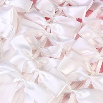 50 sztuk paczka delikatne wesele Pew koniec dekoracji łuk węzłów wstążkowe kokardki Party samochody krzesła dekoracji Bowknots tanie i dobre opinie LAIMALA Butterfly Jednolity kolor 894808 Tkaniny Birthday party Ślub i Zaręczyny New Year cream-color white Pack 0 102kg (0 22lb )