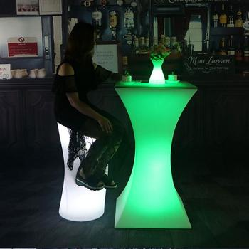 110 см высокий перезаряжаемый светодиодный стол для коктейлей высококачественный стол для выращивания коммерческой мебели вечерние аксесс