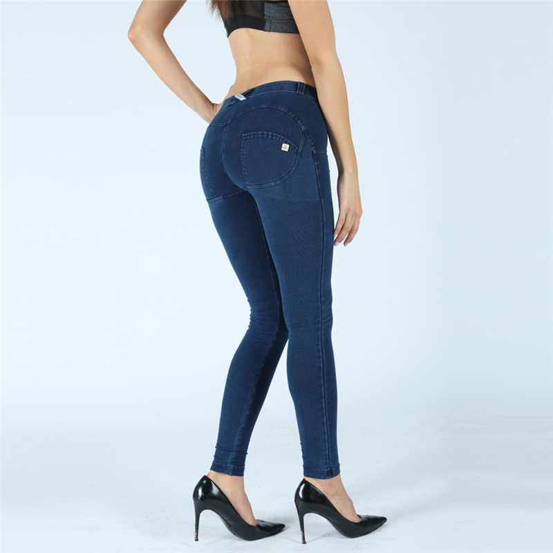 Four Ways Stretchable  Melody Curvy Jeans Boyfriend Blue Skinny Jeans Best Jeans For Women Shapewear