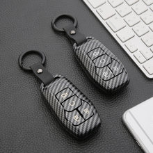 Carbon Fiber ABS Car Key Case Cover for 2015 2016 2017 2018 Ford Fusion Mondeo Mustang Taurus F150 Explorer Edge Lincoln MK