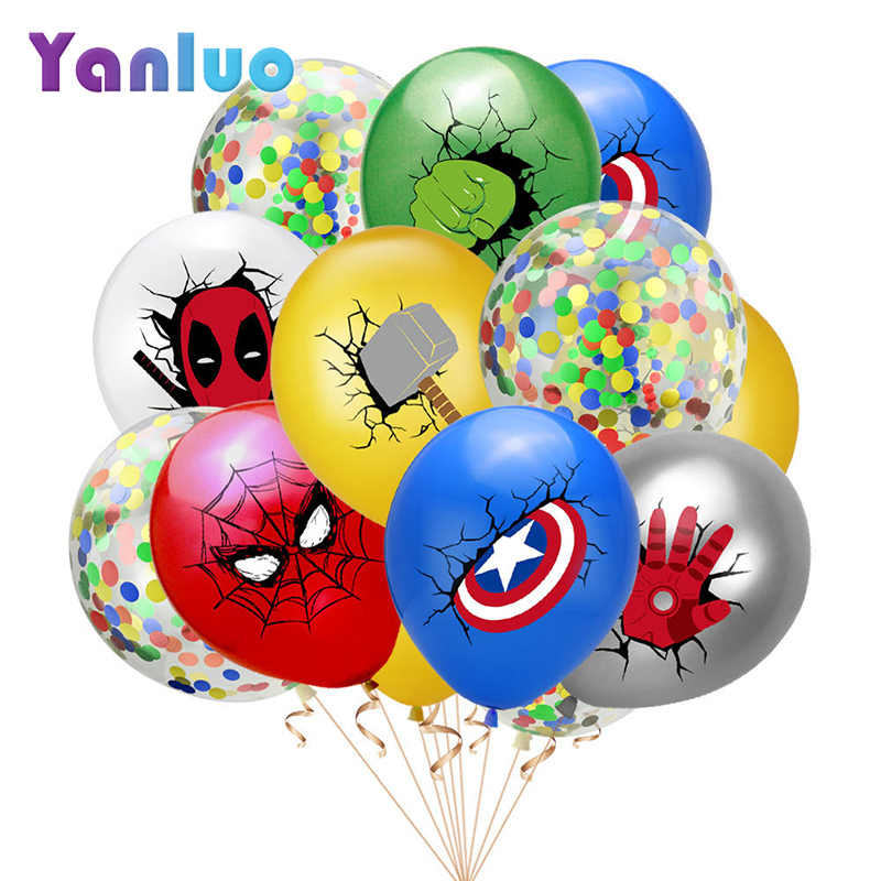 10 Pcs Super Pahlawan Balon Lateks Balon Anak-anak Dekorasi Pesta Ulang Tahun Baby Shower Balon