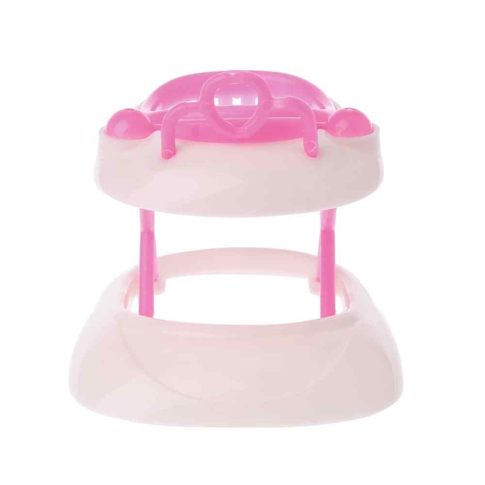 Nuova Rosa di Plastica Camminatore per Barbie Bambola Miniatura Casa Delle Bambole Accessori 24BE