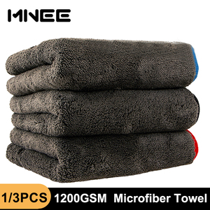 Image 1 - 1200gsm microfibra toalha de carro detalhando toalha casa pano de limpeza carro ferramenta de polimento de secagem toalhas de lavagem para cozinha 40*40/60cm