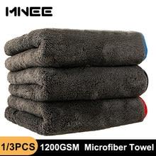 Toalha de microfibra 1200gsm carro toalha de limpeza detalhando toalhas de secagem auto polimento lavagem ferramenta carro acessórios 40*40/60/90cm