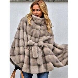 Женское пальто с искусственным лисьим мехом Umeko, зимнее пальто средней длины с искусственным мехом лисы, теплое пальто с искусственным лись...