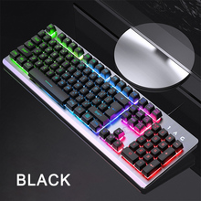 цена на Gaming Keyboard Wired Mechanical Keyboards RGB Backlit USB 104 Keycaps Computer Game Ergonomic Keyboards for PC laptop