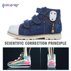 Princepard 2019 new canvas orthopedic shoes for kids boys girls orthopedic shoes pigskin leather insoles and mesh lining size 20