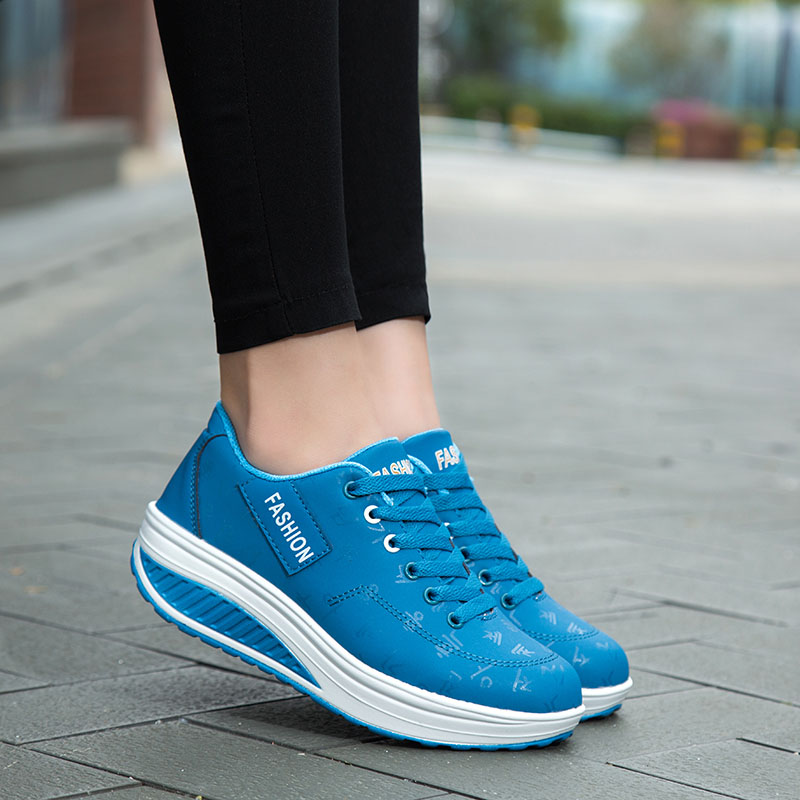2020 Spring New Women Platform Rocking Shoes Casual Fashionable Womens Chunky Designer Sneakers Zapatillas Con Plataforma Mujer 8