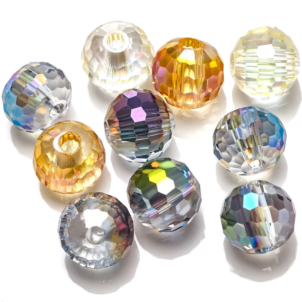 16x20mm Faceted Multi-color Crystal Quartz Flat Oval Beads 10pcs