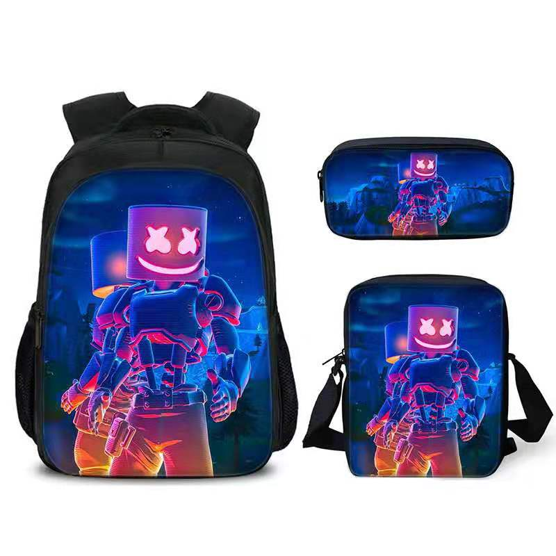 Newest DJ Smiley Face School Bag DJ Music Cosplay Fashion Backpack Kids Birthday Gift Bookbag Teenagers Outdoor Travel Bag
