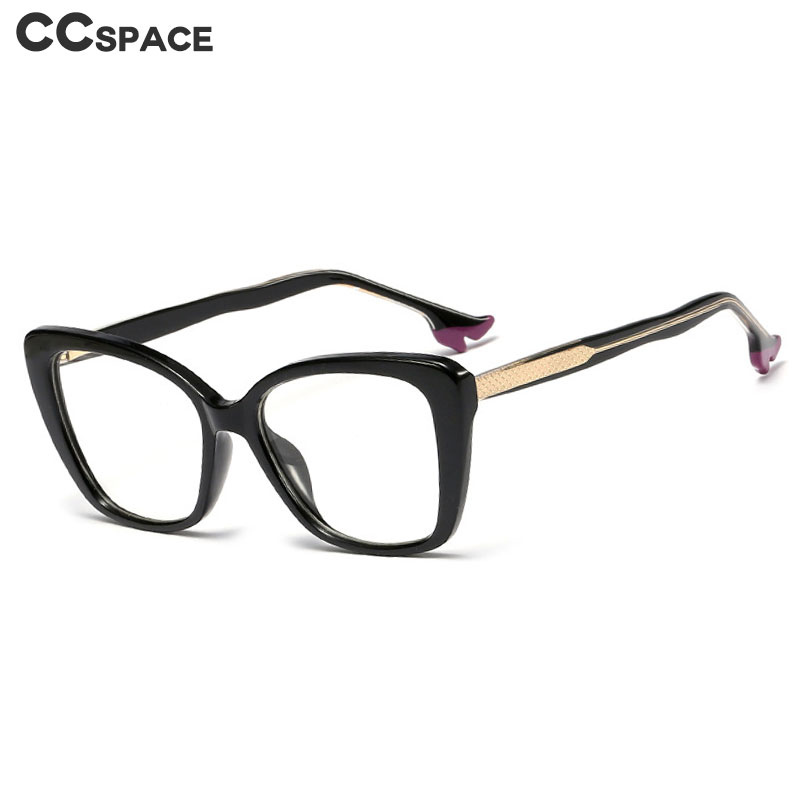 48063 Plastic Titanium Glasses Frames Square Cat Eye High Heels Shape Ultralight Men Women Optical Fashion Computer Glasses