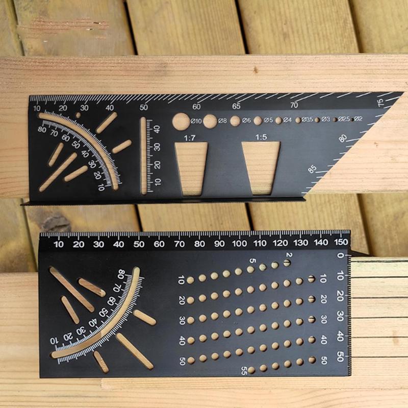 Aluminium Legierung Glasritzrades Holz Gelenke Gauge Vorlage Holzbearbeitung Vertikale Winkel Kalibrierung Praktische Schwalbenschwanz Kennzeichnung Gauge