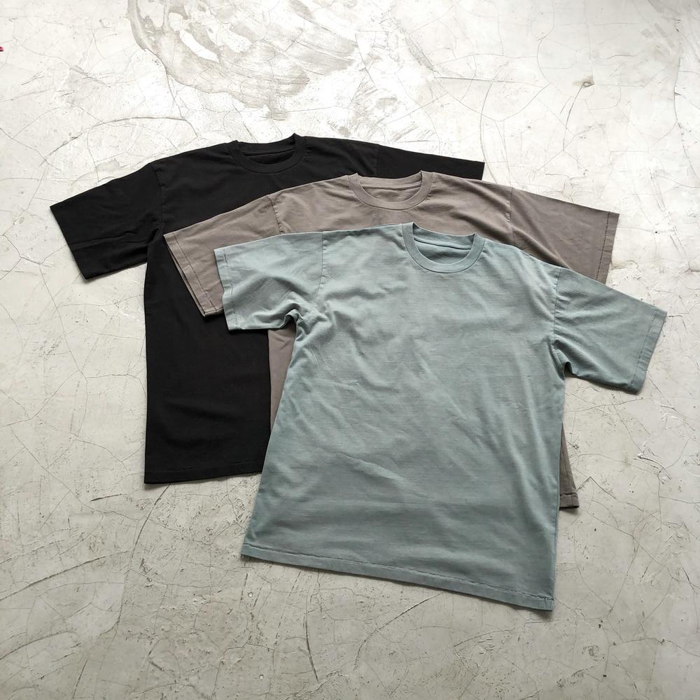 2020 Kanye Washed Cotton T-shirt Hip Hop Solid Tee Summer Streetwear