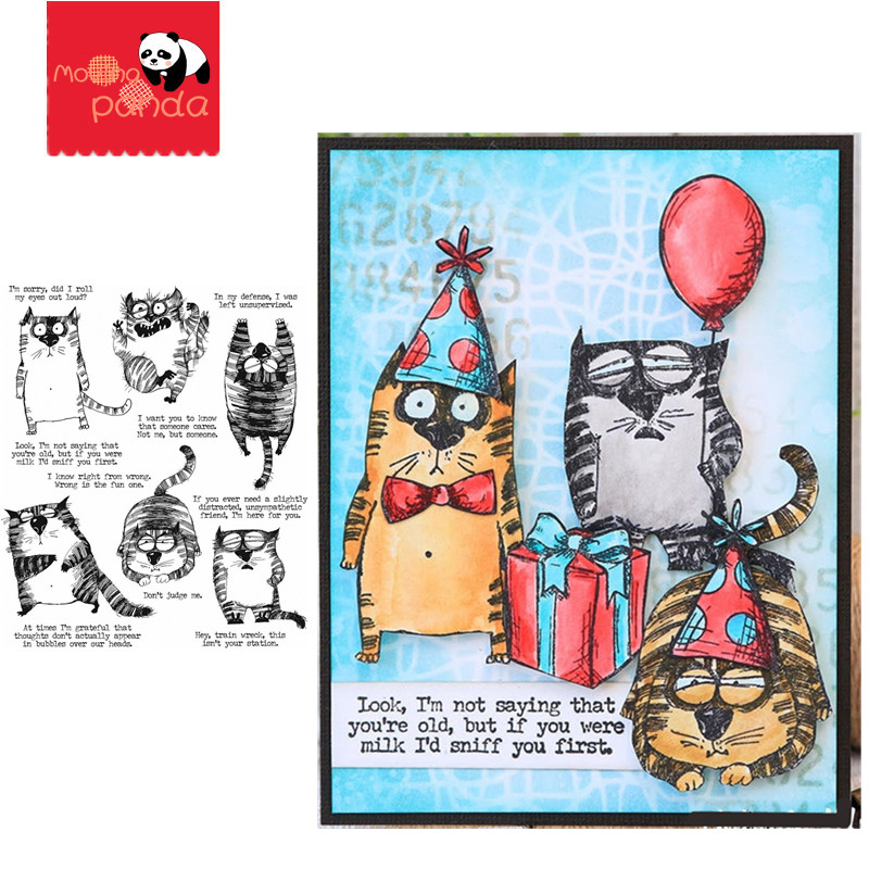 SNARKY CAT Metal Cutting Dies And Stamps For DIY Scrapbooking Photo Album Decorative Embossing Paper Card Crafts Die Cut