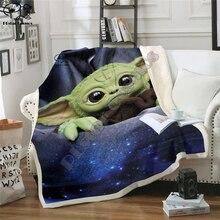 Kids Galaxy Star Wars Yoda 3D Blanket Fleece Cartoon Anime Print Children Warm Bed Throw Blanket newborn baby Blanket style 023