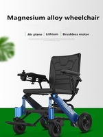 Best selling lithium battery light folding smart control electric disable wheelchair can be carried on the plane