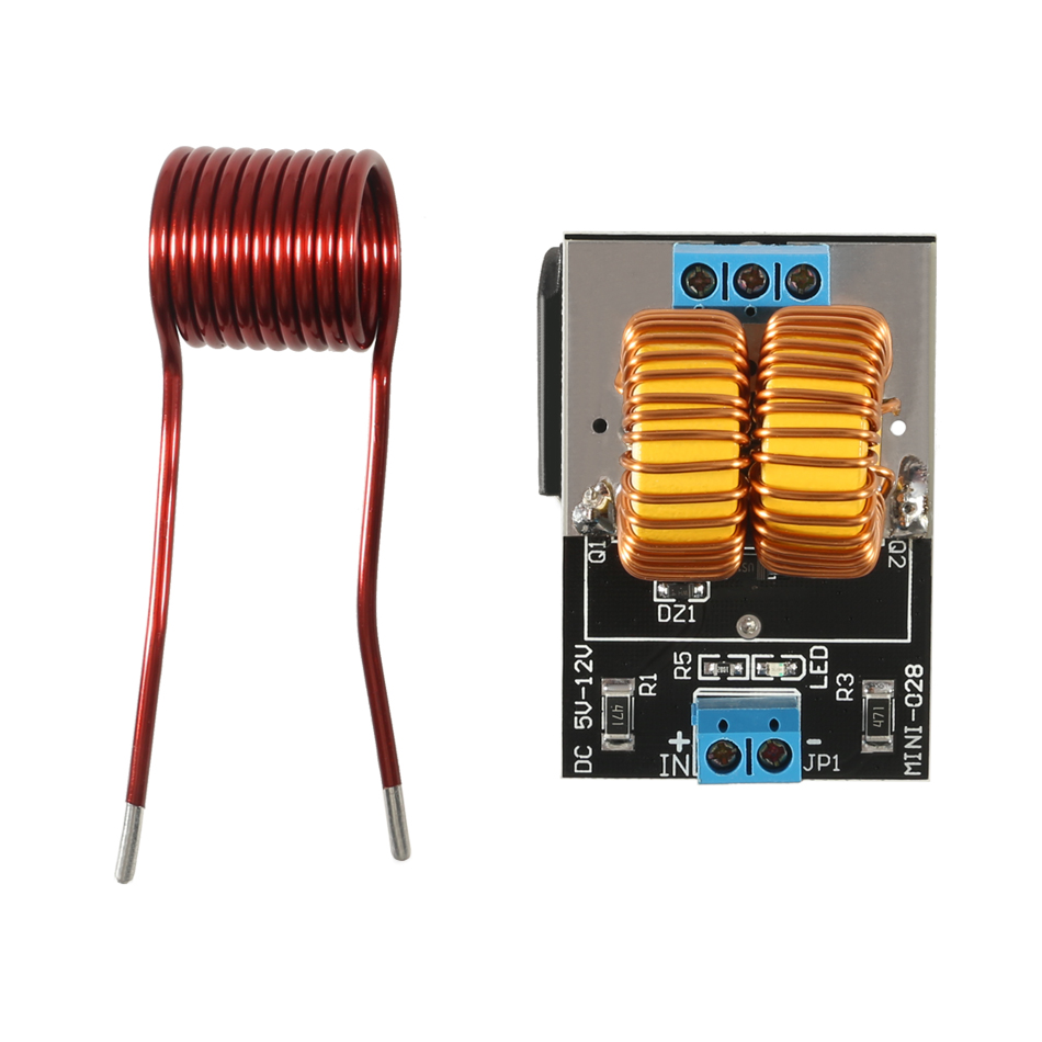 5 12V 120W Mini ZVS Induction Heating Board Flyback Driver Heater DIY Cooker+ Ignition Coil|Magnetic Induction Heaters| |  - title=