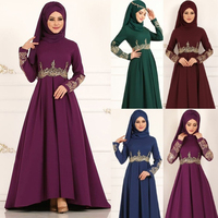 Dubai lace abayas for women muslim abaya turkish dresses burkini islamic clothing bangladesh arabic caftan marocain djellaba