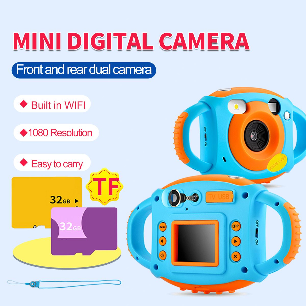 1080P Dual Camera Toddler Toys Camera Educational Mini Digital Photo Camera Photography Gift Children Kids Camera