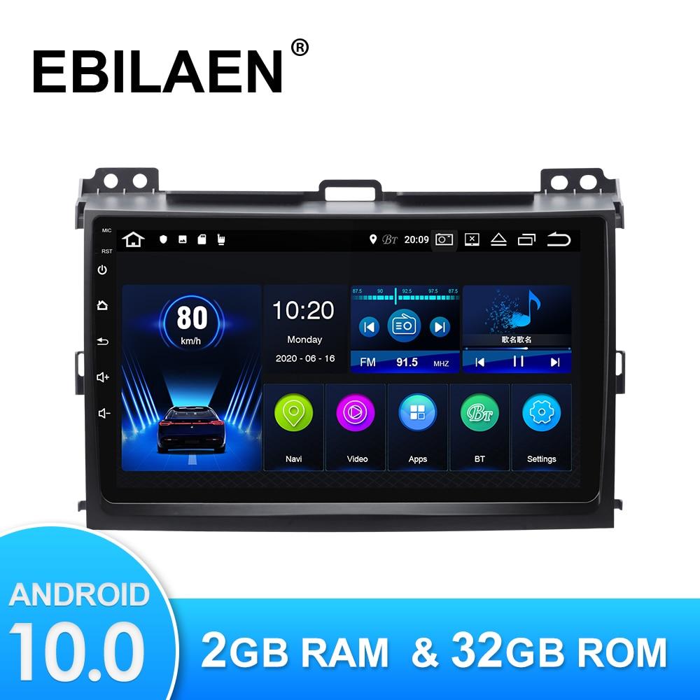Автомобильный мультимедийный плеер на Android 10,0 для Toyota Land Cruiser Prado 120, Авторадио с GPS-навигацией, камерой, Wi-Fi, IPS экраном, стерео, RDS