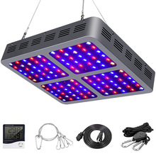 Full spectrum 600w/900w/1200w led grow lights panel with reflector for indoor greenhouse plant veg and bloom