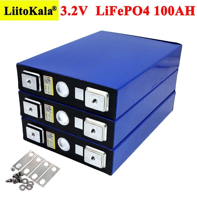3.2V 100Ah bateria LiFePO4 litowo fosfa duża pojemność DIY 12V 24V 48V 3C 300A samochód elektryczny RV system magazynowania energii słonecznej