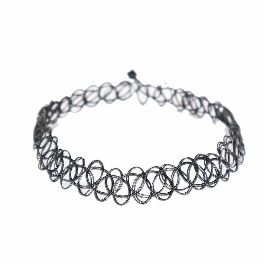 Net sangle cou anneau artisanal élastique collier tatouage collier ras du cou doigt anneau Bracelet pour les femmes ensemble de bijoux beau cadeau